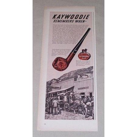 1949 Kaywoodie Briar 28C Super Grain Tobacco Pipe Color Print Ad