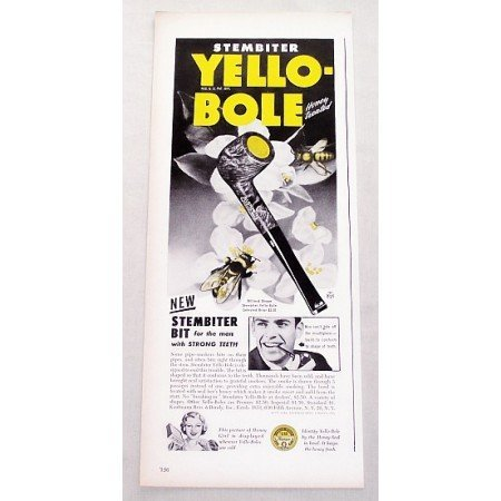 1947 Stembiter Yello-Bole Briar Smoking Pipe Color Print Ad