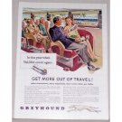 1946 Greyhound Bus Lines Color Print Ad - Get More Out Of Travel