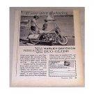 1960 Vintage Print Ad 1961 Harley Davidson Duo Glide Motorcycle
