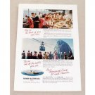 1955 Moore McCormack Cruise Lines Color Print Ad - South America