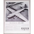 1942 United Air Lines Aviation Vintage Print Ad - Age Of Flight