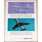 1957 Boeing 707 Jet Airliner Color Print Ad