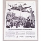 1949 American Airlines Airfreight Vintage Print Ad - Fashion Parade