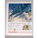 1944 Studebaker Wartime Boeing Flying Fortress Color Print Ad