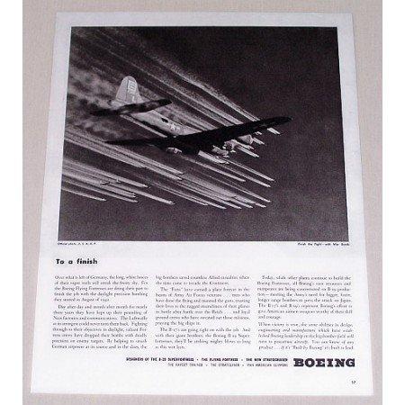 1945 Boeing B-29 Superfortresses Plane Aviation Vintage Print Ad