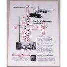 1953 Dynamic Recording Systems Douglas C124 Plane Vintage Print Ad