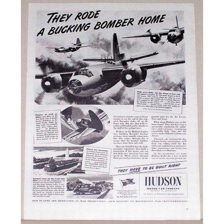 1944 Hudson Aviation Marauder Bomber Wartime Vintage Print Ad