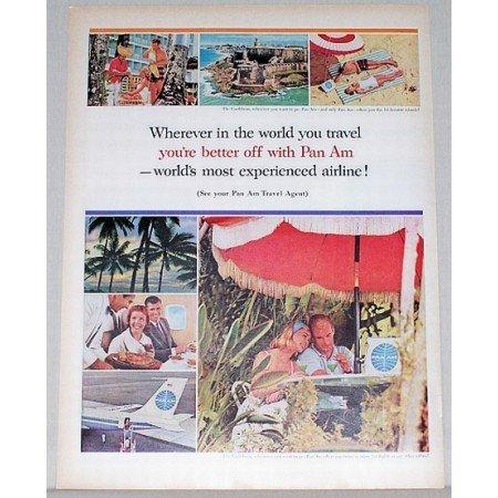1963 Pan Am Air Lines Color Print Ad - The Caribbean