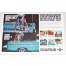 1962 Chevrolet Jobmaster Trucks 2 Page Color Print Ad