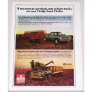 1974 Dodge Club Truck and Medium Duty Truck Color Print Ad