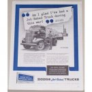 1945 Dodge Job Rated Trucks Milk Truck Vintage Print Ad