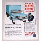 1961 Ford Delivery Cargo Box Truck Color Print Ad