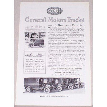 1919 GMC General Motors Trucks Vintage Print Ad - Business Prestige