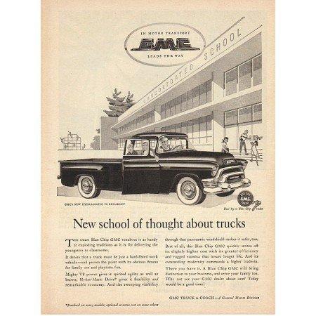 1955 GMC Hydra-matic V8 Runabout Pickup Truck Vintage Print Ad