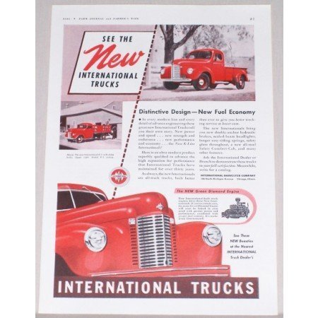 1941 International Model K-2 Pickup Truck Color Print Ad
