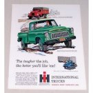 1960 International B120 All Wheel Drive Truck Color Print Art Ad