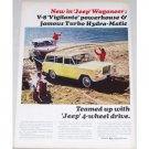 1965 Kaiser Jeep Wagoneer 4 Wheel Drive Color Print Ad