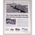1957 Jeep FC-170 Platform Stake Body Truck Vintage Print Ad