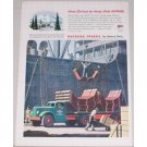 1944 Autocar Heavy Duty Trucks Color Print Ad - Home Delivery