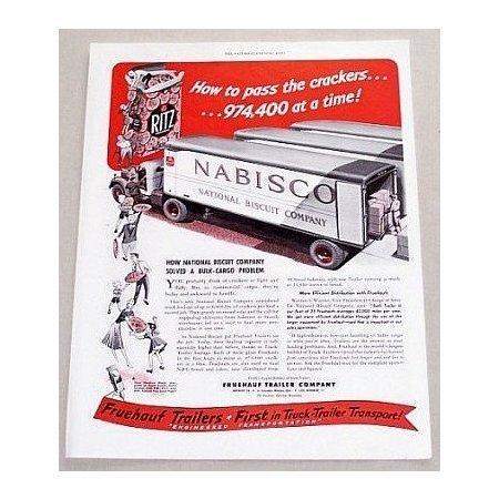 1949 Fruehauf Trailer Truck Trailers Vintage Print Ad - Nabisco
