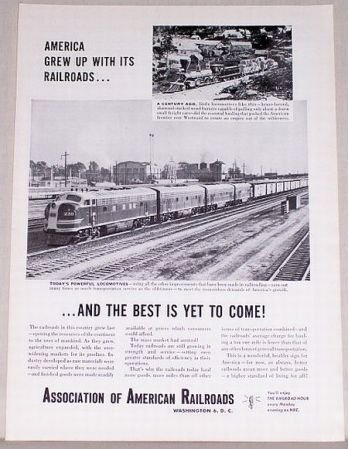 1953 American Railroad Vintage Print Ad - Best Is Yet To Come