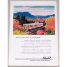 1954 Budd Canadian Pacific Passenger Car Railroad Color Print Scenic Art Ad