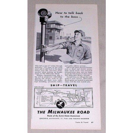 1953 Milwaukee Road Railroad Vintage Print Ad - How To Talk Back