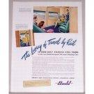 1946 Budd Built Steel Trains Color Print Ad - Travel By Rail