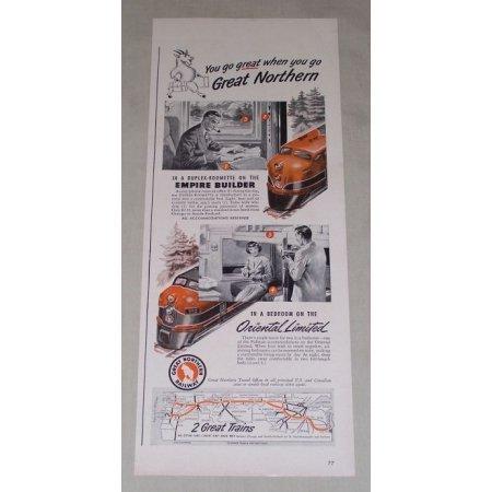 1949 Great Northern Railway Railroad Vintage Print Ad