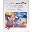 1944 American Railroads Color Bingham Art Print Ad