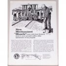 1960 Great Northern Railway Vintage Print Ad - New Mechanized Muscle