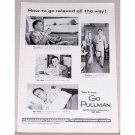 1954 Go Pullman Railroad Vintage Print Ad - Relaxed All The Way