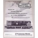 1957 Santa Fe Fairbanks Morse 546 Switchers Railroad Vintage Print Ad