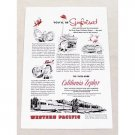 1955 Western Pacific Railroad California Zephyr Vintage Print Ad