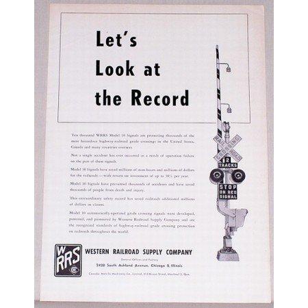 1957 Western Railroad Supply Company Vintage Print Ad