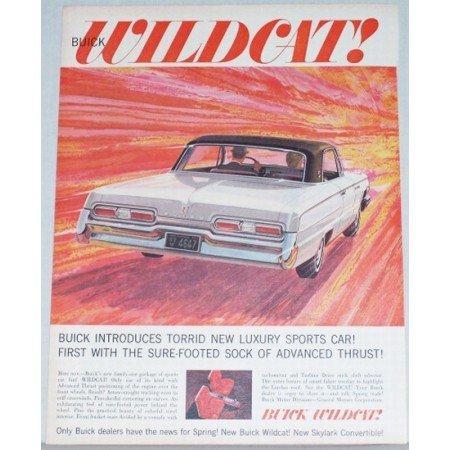1962 Buick Wildcat Color Print Automobile Car Art Ad