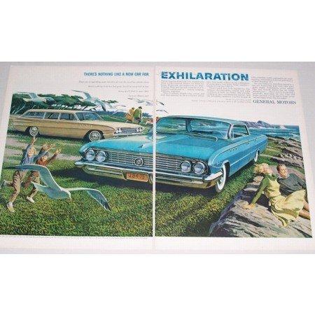 1961 Buick Special Wagon La Sabre 2 Page Color Automobile Car Print Ad