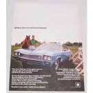 1968 Buick Skylark Custom Automobile Color Print Car Ad