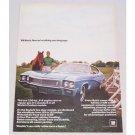 1968 Buick Skylark Custom Automobile Color Print Car Ad