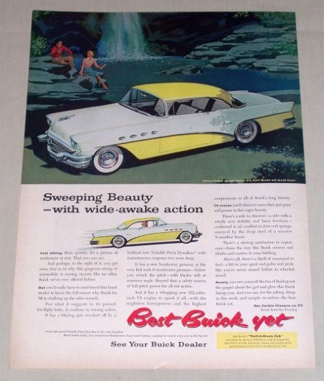 1956 Buick Super Automobile Color Print Car Ad  - Sweeping Beauty