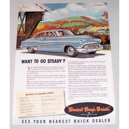 1951 Buick Eight Dynaflow Automobile Color Print Car Ad