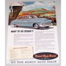 1951 Buick Eight Dynaflow Automobile Color Print Car Ad