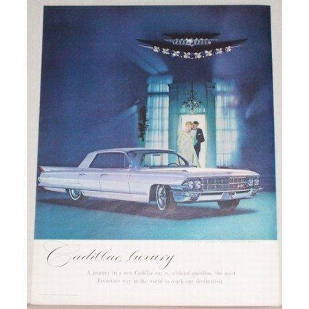 1962 Cadillac Sedan De Ville 4 Door Automobile Color Print Car Ad