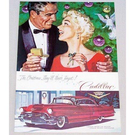 1955 Cadillac Sedan Automobile Color Print Car Ad