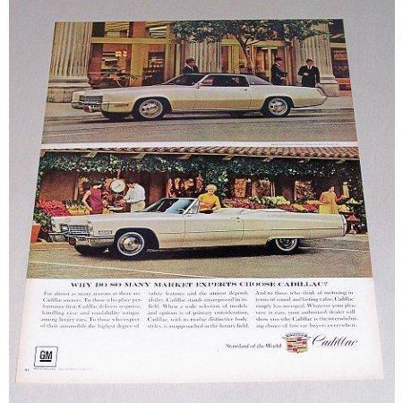 1967 Cadillac Fleetwood Eldorado DeVille Convertible Automobile Color Print Car Ad