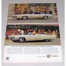 1967 Cadillac Fleetwood Eldorado DeVille Convertible Automobile Color Print Car Ad