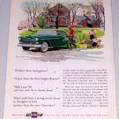 1955 Chevrolet Bel Air Sport Coupe Automobile Color Print Car Art Ad