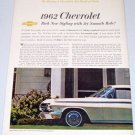 1961 Color Print 2 Page Car Ad for 1962 Chevrolet Impala Sport Coupe Automobile