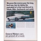 1965 General Motors Chevy Impala SS Automobile Color Print Car Ad